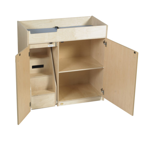 changing table with slide-out steps
