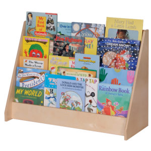 toddler book storage for classroom