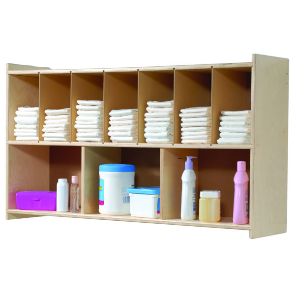 diaper wall shelf for day care