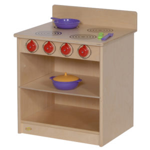 wooden role play stove and oven