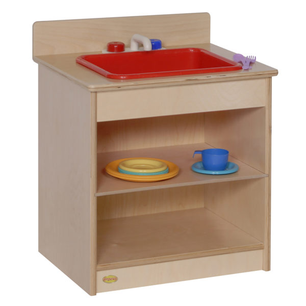 wooden play sink