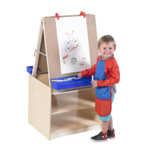 art easel and storage for classroom
