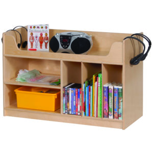 wooden bookshelf for classroom