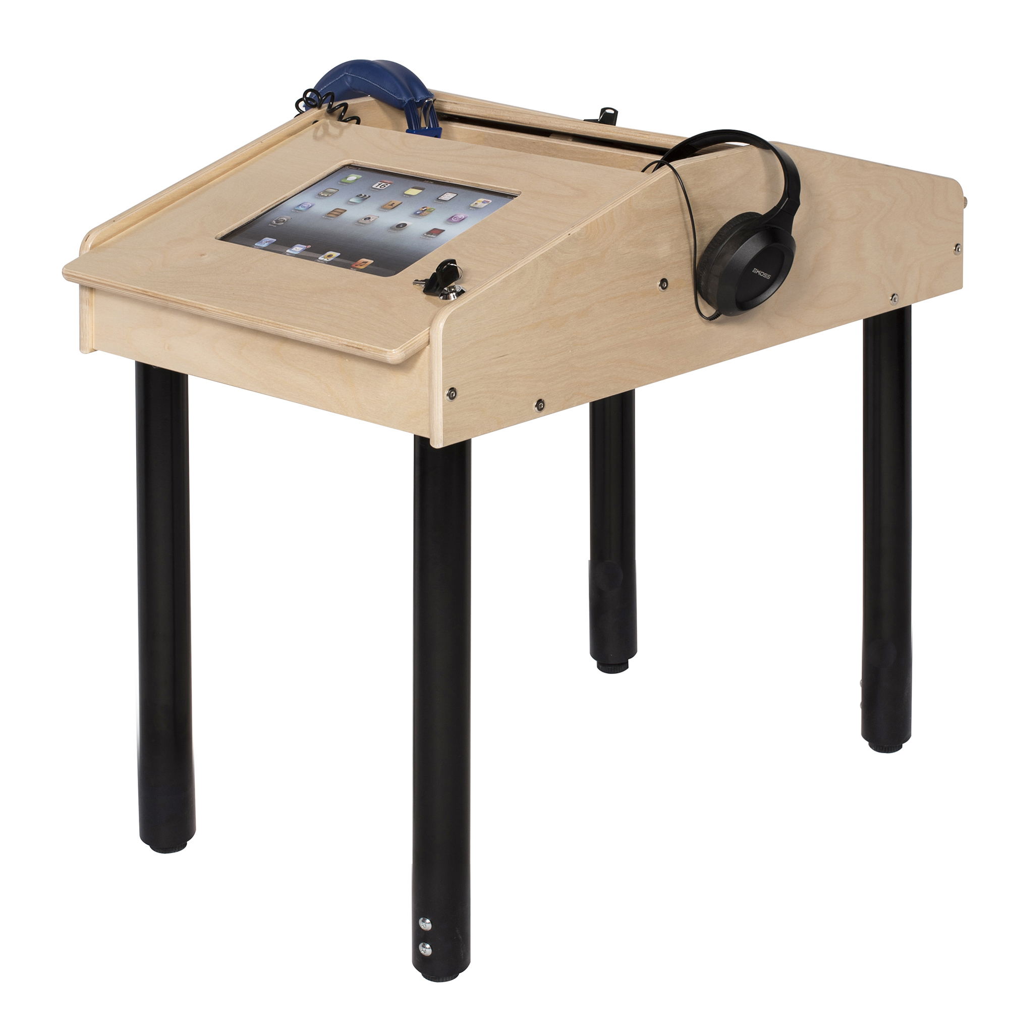 2-Station Face-to-Face Technology Table with Adjustable ...