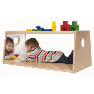 toddler storage with mirror