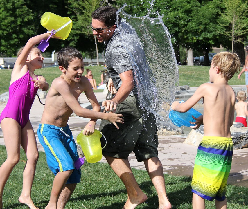 Children's water fight