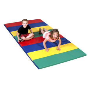 children on play mat