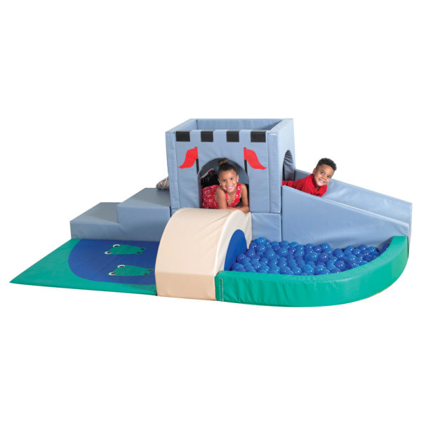 children on castle climber