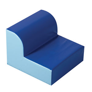 blue library chair