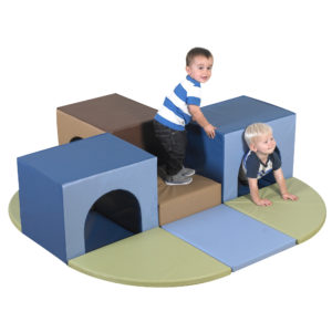 toddler block climber and tunnel