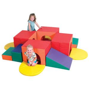 girls playing in tunnel climber