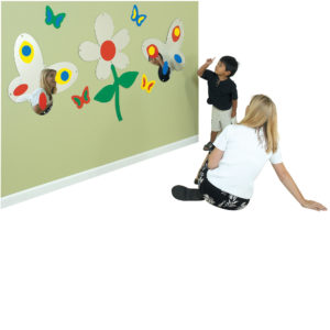 butterfly and flower wall mirrors