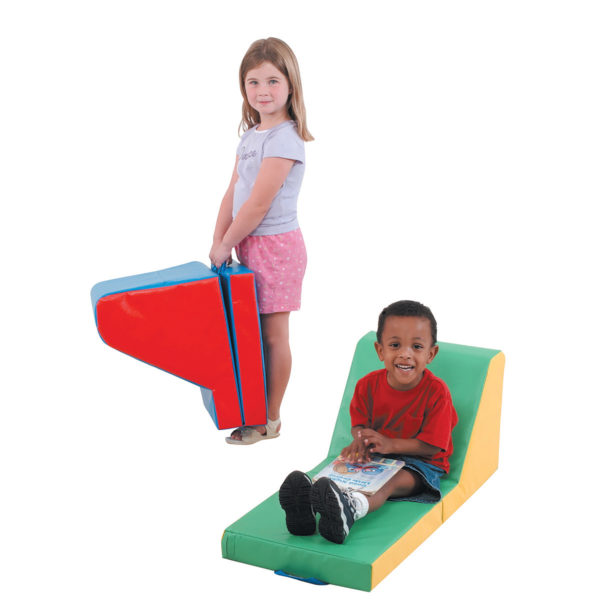 children using fold up soft chairs