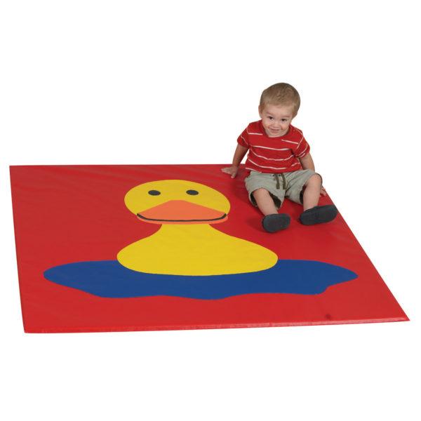 boy on duck mat