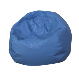round bean bag blue