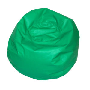 round bean bag green