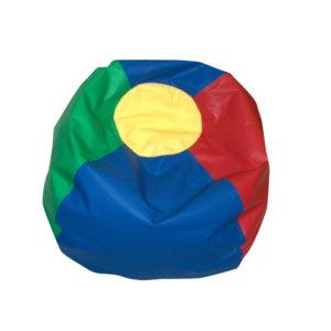 round bean bag rainbow