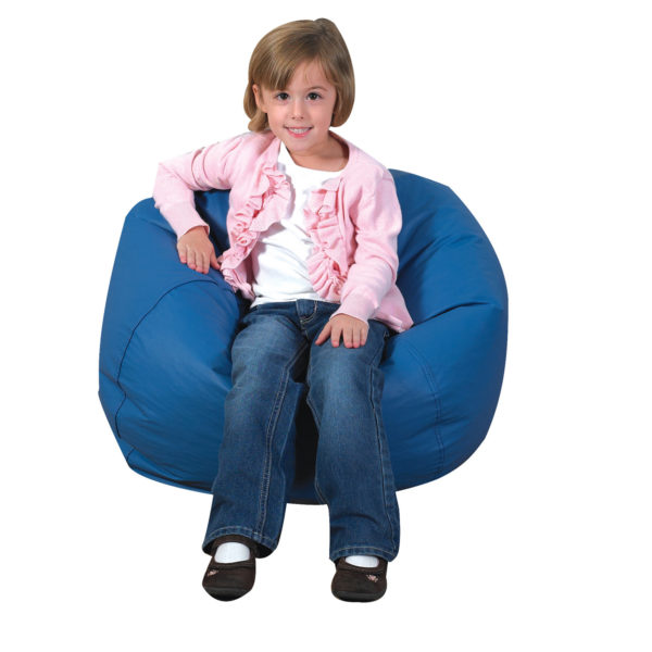 blue bean bag chair