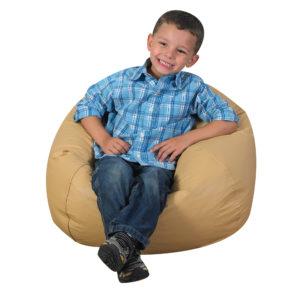 boy on bean bag chair