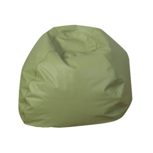 round bean bag green