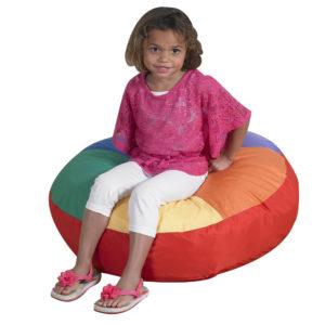 girl on soft cushion