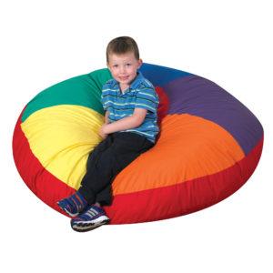 medium color wheel pillow