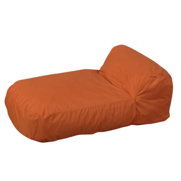 orange soft chair