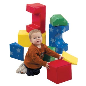 boy with play blocks