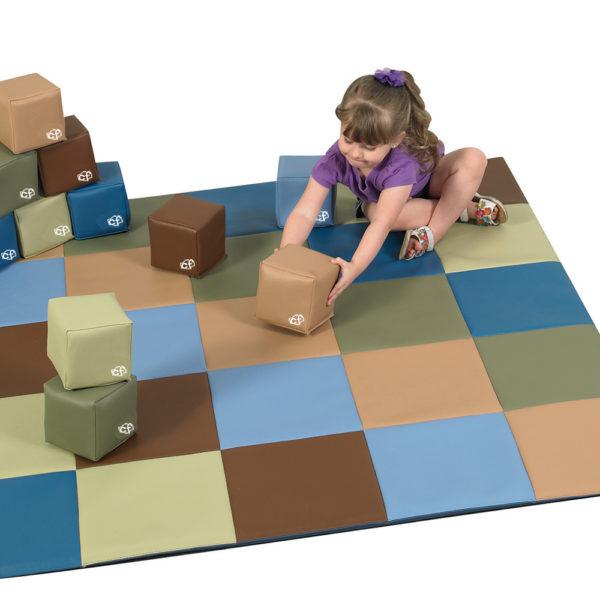 blocks and play mat