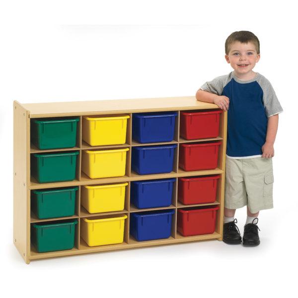 sixteen tray storage unit