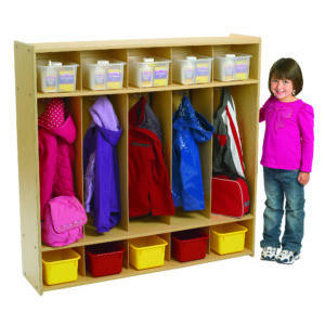 5 section preschool locker