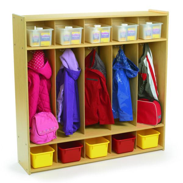 5 section preschool locker