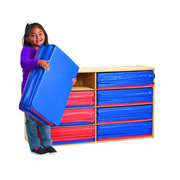 eight shelf wooden organizer