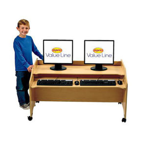 double computer station