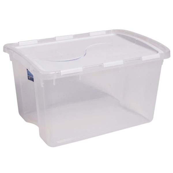 clear plastic tote