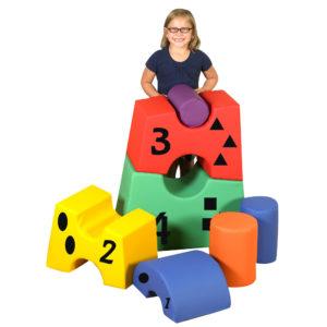 block tower play set