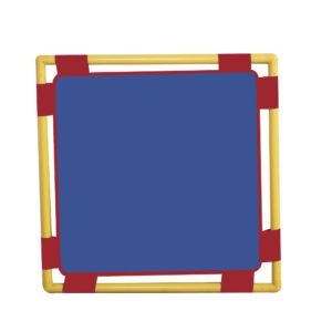 toddler blue square panel