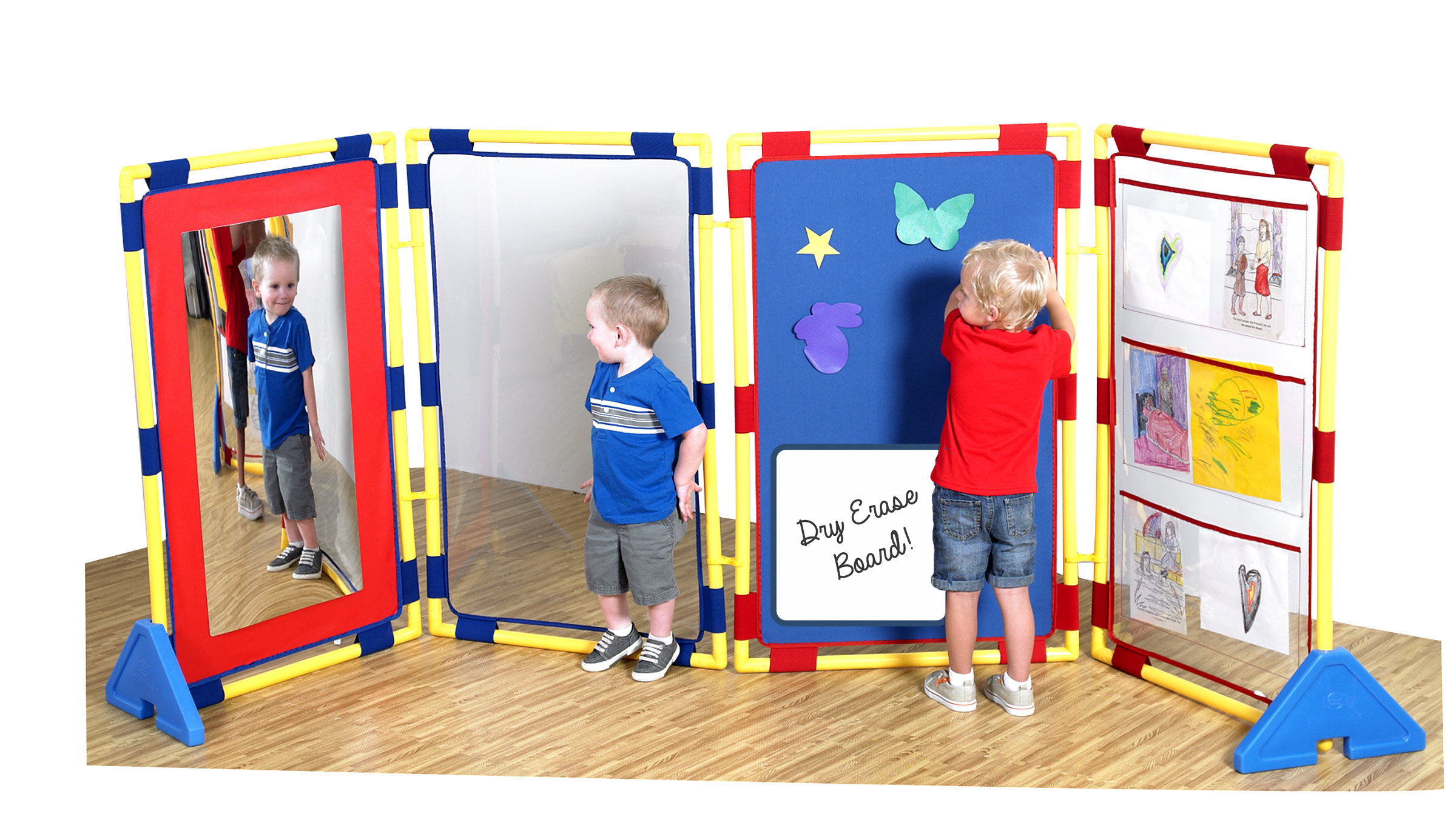 Free-Standing Screen for Daycare//Homeschool//Montessori Classroom Partitions Childrens Factory Rect PlayPanel Kids Room Divider Panel Deep Water