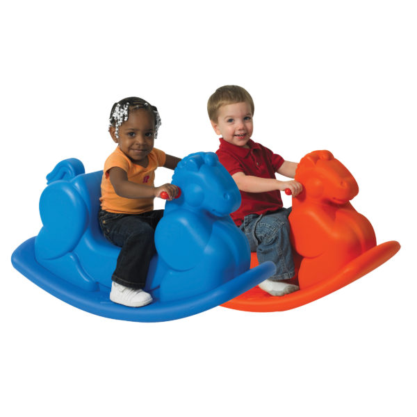 plastic rocking horses