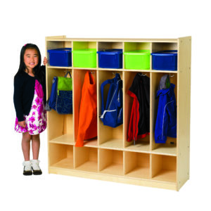 birch five section preschool locker