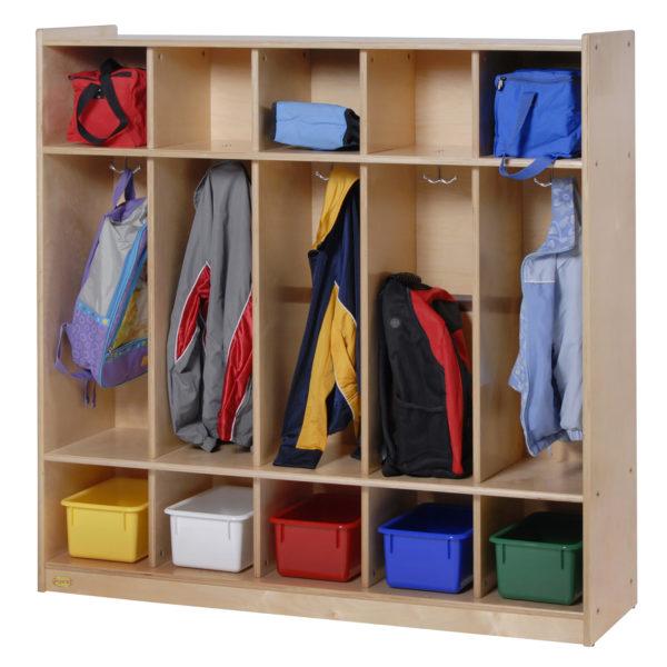 birch five section preschool locker