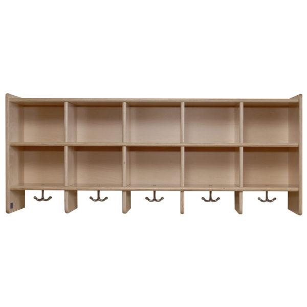 value line birch ten section wall locker