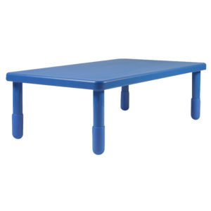 "Value Rectangle Table - Royal Blue with 20"" Legs"