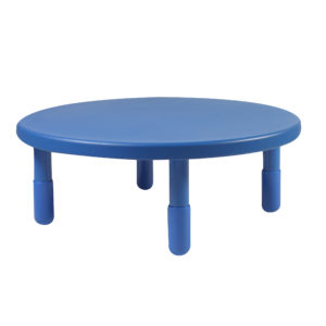 "Value 36"" Diameter Round Table - Royal Blue with 20"" Legs"