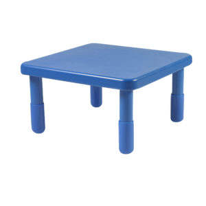 """Value 24"""" Square Table - Royal Blue with 24"""" Legs"""