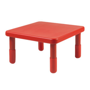 """Value 24"""" Square Table - Candy Apple Red with 18"""" Legs"""