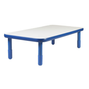 "BaseLine® 48"" x 30"" Rectangular Table - Royal Blue with 18"" Legs"