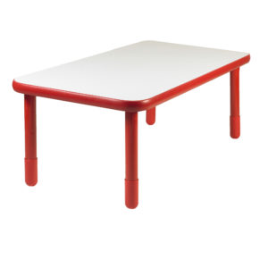 """BaseLine® 48"""" x 30"""" Rectangular Table - Candy Apple Red with 18"""" Legs"""