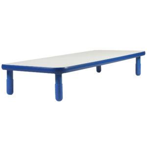 "BaseLine® 48"" x 30"" Rectangular Table - Royal Blue with 18"" Legs"