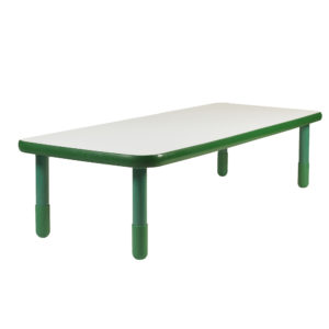 "BaseLine® 48"" x 30"" Rectangular Table - Shamrock Green with 18"" Legs"